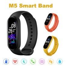 M5 smarth relógio esporte rastreador de fitness pedômetro freqüência cardíaca monitor de pressão arterial bluetooth m5 banda pulseira inteligente das mulheres dos homens