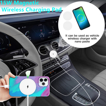 15W Magnetic Wireless Charging Pad Fast Charging 20W Wireless Charger For iPhone 12 Pro Max Mini Phone Wireless Charger Adapter image