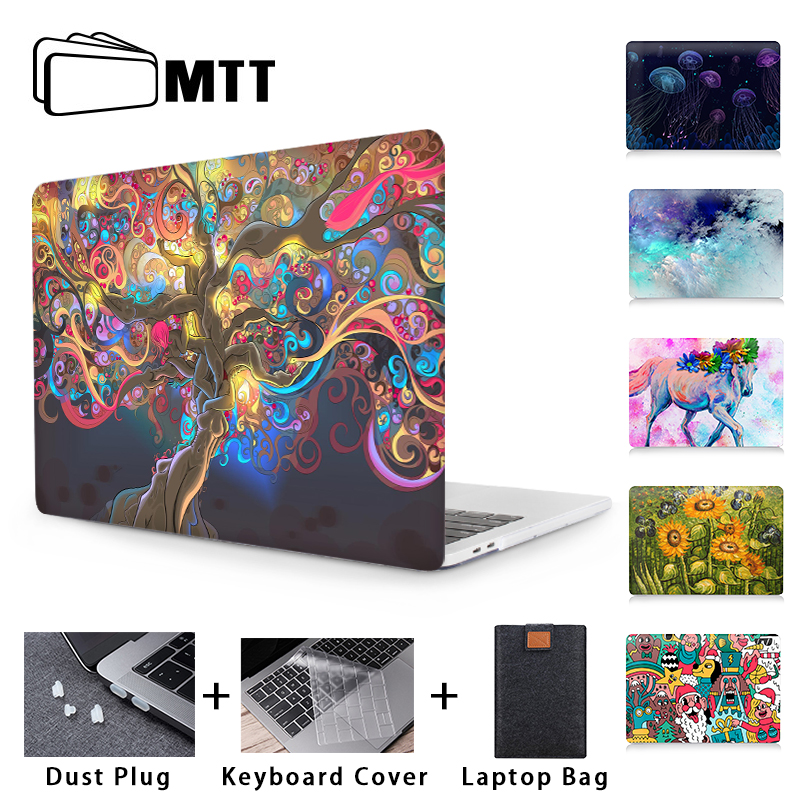 MTT Case For Macbook Pro 16 13 <font><b>15</b></font> Retina With Touch Bar Hard Cover For Apple Mac book Air 11 12 13.3 <font><b>15</b></font>.4 <font><b>inch</b></font> <font><b>Laptop</b></font> Bag <font><b>Sleeve</b></font> image