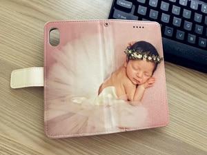 Image 2 - Wykonane na zamówienie dowolny obraz pic zdjęcie DIY portfel skórzany futerał na telefon odwróć pokrywa dla Apple iPhone X 8Plus 8 7Plus 7 6splus 6s 6Plus 6