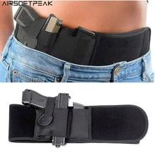 Tático pistola coldre escondido barriga banda arma coldre para a mão direita airsoft arma cintura rig cinta para pistolas tamanho completo