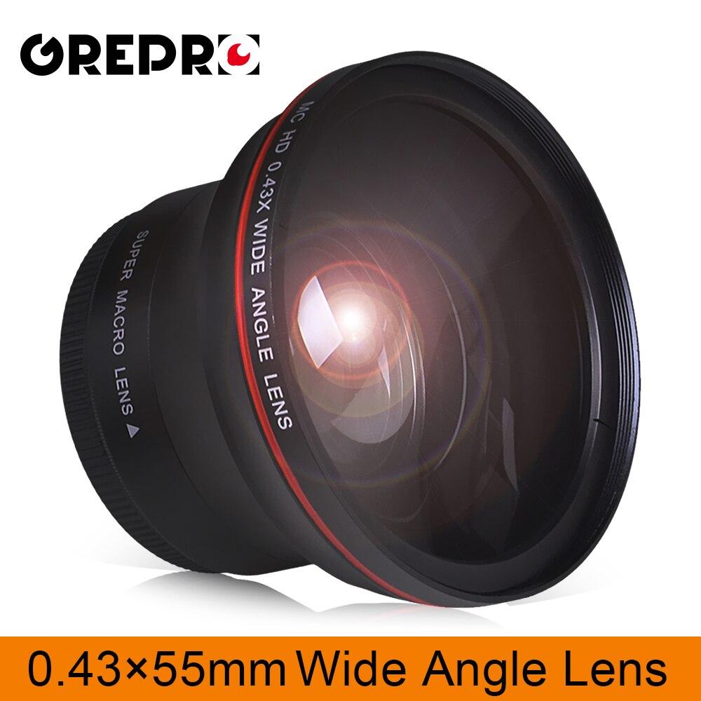 55 мм 0.43x профессиональный HD широкоугольный объектив (w/макрообъектив) для камер Nikon D3400, D5600 и Sony Alpha