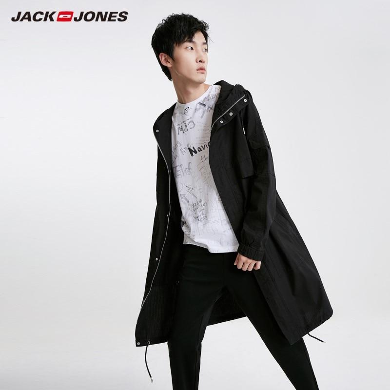 JackJones Men's Winter Mid-length 100% Cotton Fashion Embroidered Coat Streetwear| 219121539