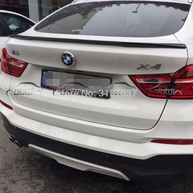For <font><b>BMW</b></font> X4 <font><b>F26</b></font> <font><b>Spoiler</b></font> 2015-2016 ABS Plastic Unpainted Color Rear Roof <font><b>Spoiler</b></font> Wing Trunk Lip Boot Cover Car Styling image