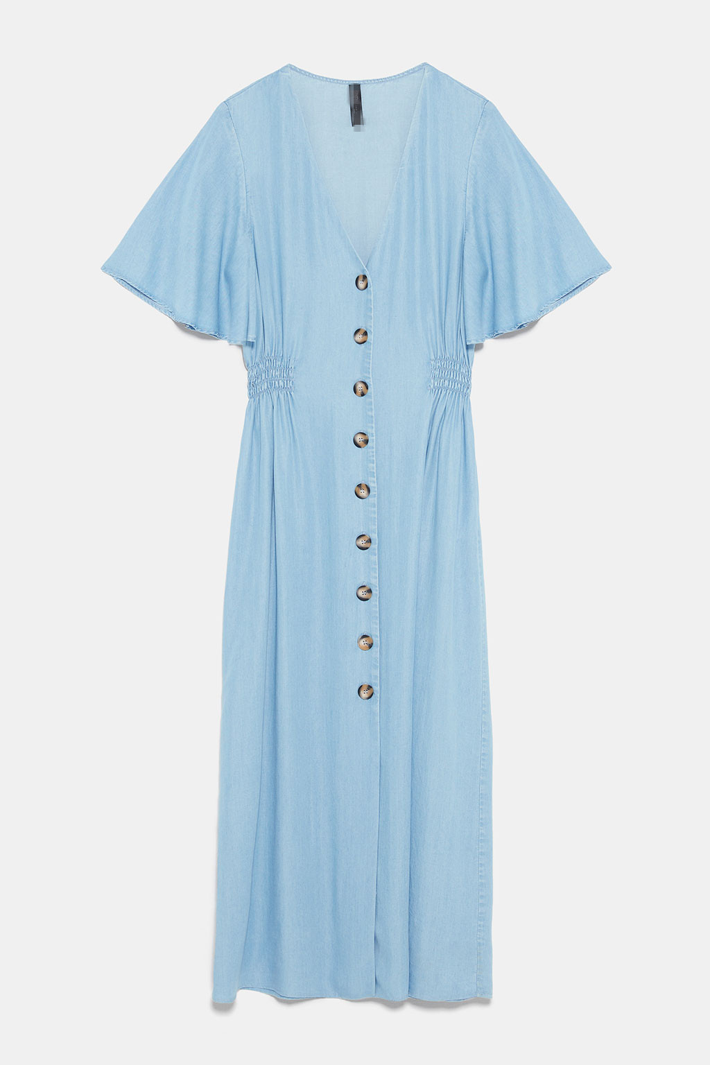 ZAraing Spring And Summer Women's V-neck Dress Decorated With Buttons