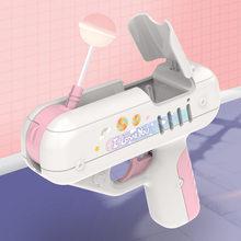 Doces arma de açúcar lollipop arma brinquedos doces para namoradas luz brinquedo de armazenamento de pirulito para crianças adulto eu te amo