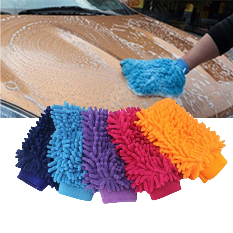Ultrafine Fiber Car Wash Gloves Chenille  Anthozoan Car Cleaning Sponge Car Washer Supplies Coral Shaped Soft Car Cleaning Tools