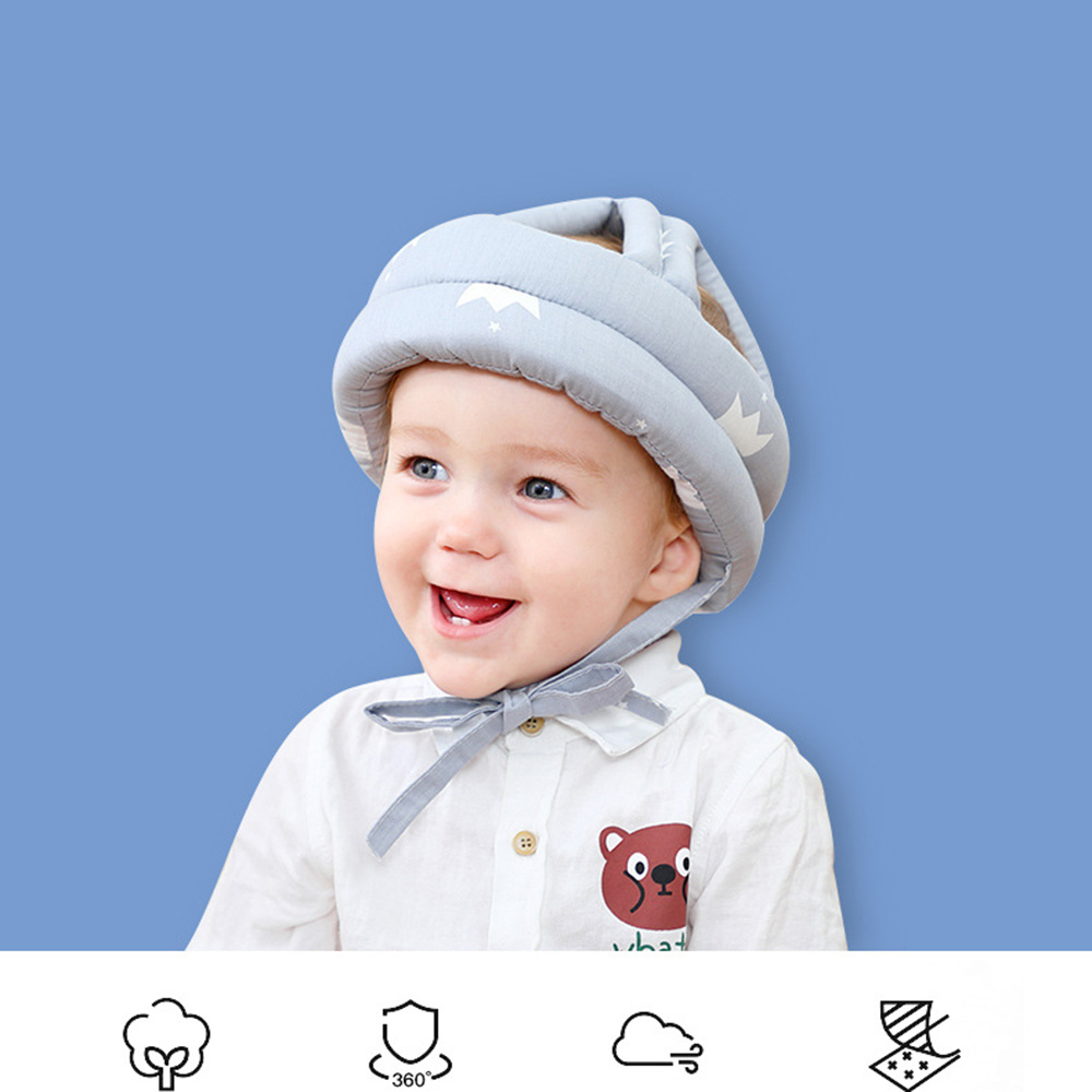 Baby Helmet Cartoon Toddler Helmet Hat Baby Clothing Accessories Safety Protective Bumper Anti-shock Cap Walking Cap