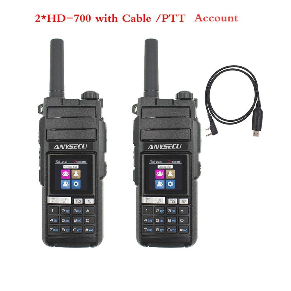4G LTE Fast Communicate  PTT Walkie Talkie Phone Dual SIM Card GPS Single/Group /All Call Distance Limit(2pcs))
