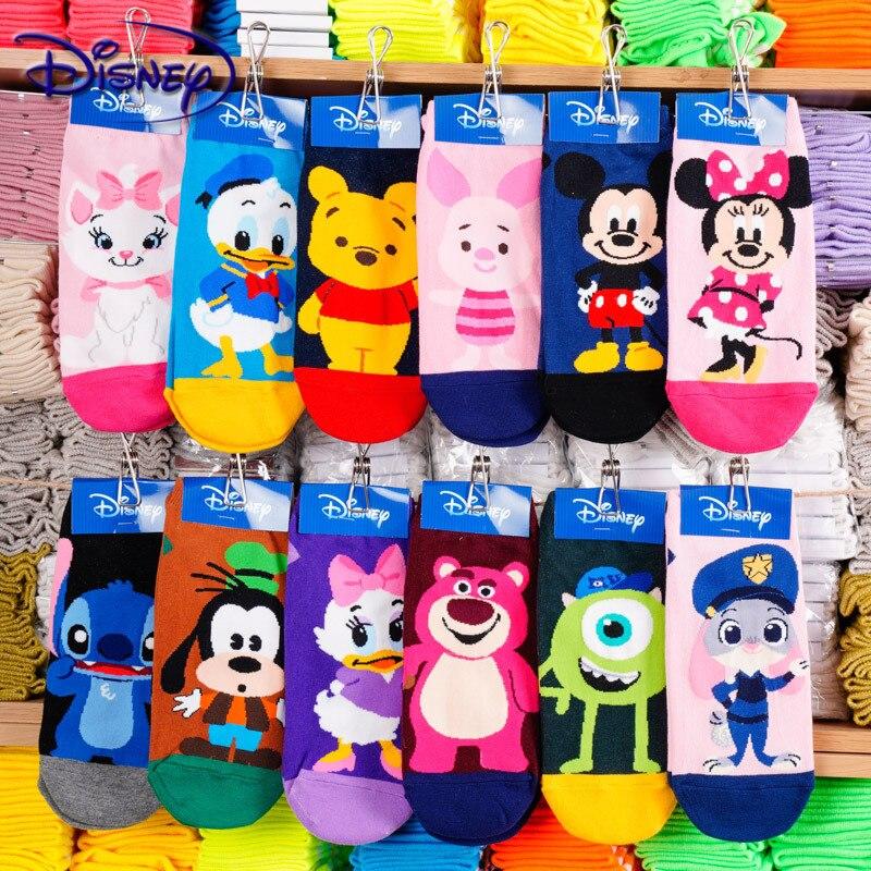 Disney Cute Mickey Cartoon 100% Cotton Socks New Design Boat Socks Casual Soft Socks