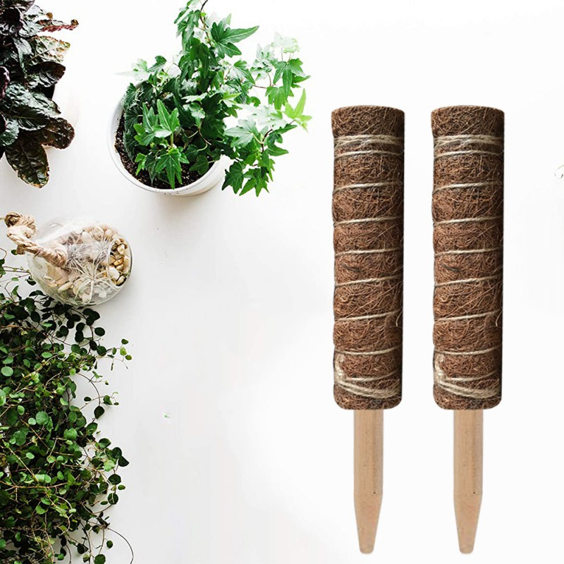 1PC Coir Moss Totem Pole Coir Moss Stick For Creepers Plant Support Extension Climbing Indoor Garden Plants 50/60CM