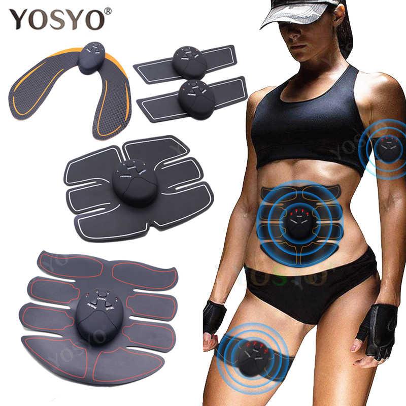 EMS estimulador muscular inalámbrico entrenador inteligente entrenamiento Abdominal calcomanías eléctricas pérdida de peso cinturón adelgazante para el cuerpo Unisex