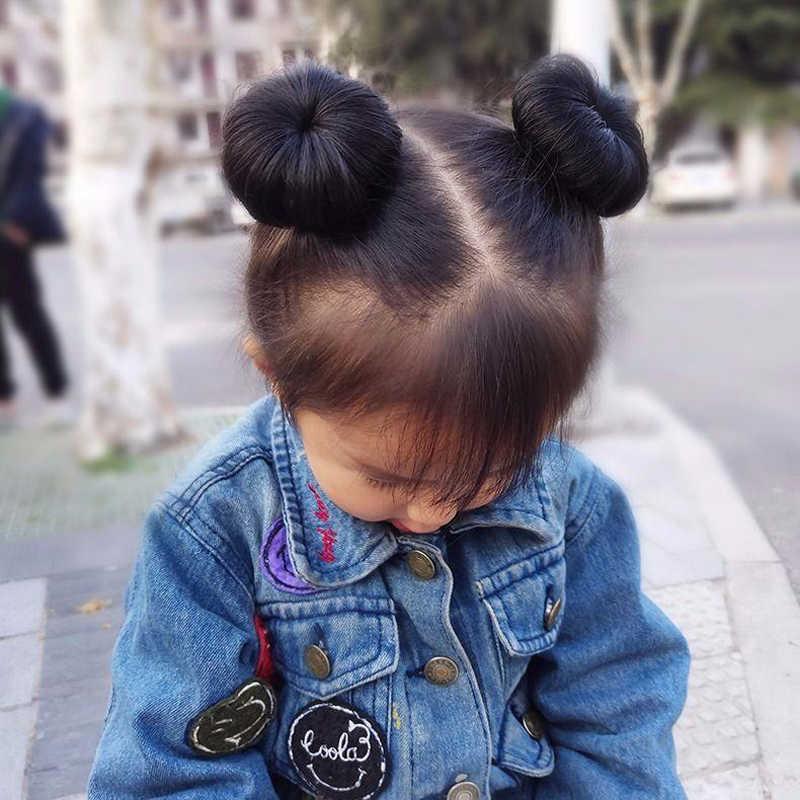 1pc śliczne dziewczynek włosy słodkie peruka moda realistyczne puszyste wielokolorowe krótkie Curl peruka syntetyczna osłona na włosy nakrycia głowy