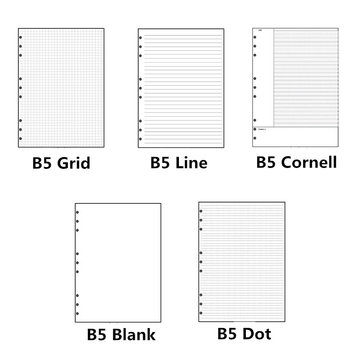 B5 9 Holes Loose-leaf Notebook Draft Paper Diary Sketchbook Journal Grid Line-Dot Planner Painting Inner Page Office Stationery 6ep1334 2ba00 page 9