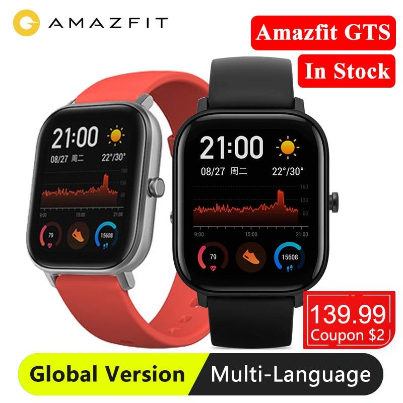 Image 2 - Huami Global Version Amazfit GTS Smart Watch GPS 5ATM Waterproof Smartwatch Health Heart Rate AMOLED 12 SportsSmart Watches   -
