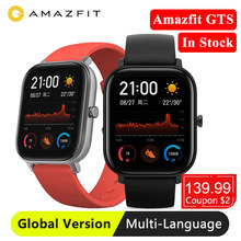 Versione globale Huami Amazfit GTS Global Smart Watch GPS 5ATM Smartwatch impermeabile salute frequenza cardiaca AMOLED 12 sport