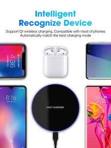 Image 5 - Быстрая Беспроводная зарядная док станция 15 Вт для iPhone X XR XS 8 Plus Qi Type C Быстрая зарядка для Samsung S9 S8 Note 9 8 Xiaom Mix 2s 3