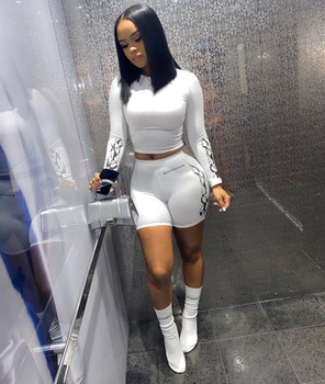 2 Piece Set Women Two Piece Set Fall Clothes for Women Club Baddie Outfits Instagram Crop Tops Stacked Leggings Scrubs Set 9549