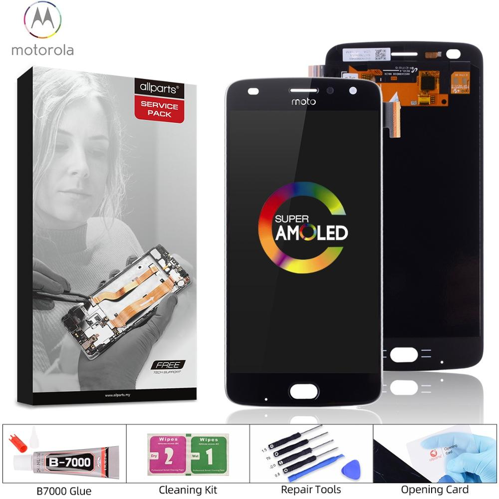 5.5 inch OLED AMOLED LCD For Motorola Moto Z2 Play Display Touch Screen Replacement for Moto Z2 Play LCD XT1070 Black White