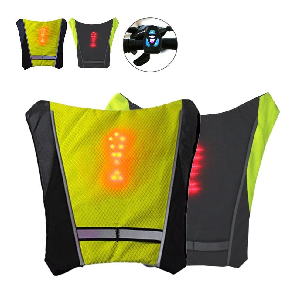 Waterproof 30 pieces of LED Signal lights Warning Light Safety Reflective Safety Vest Jacket Wireless Remote Control Outdoor h6
