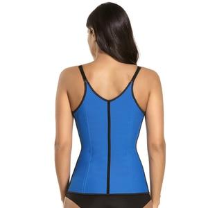 Image 4 - waist trainer latex modeling strap corsets steel slimming sheath belly cincher Shapewear fitness corset reduce belt girdle fajas