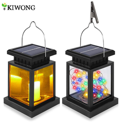 Solar Lantern Waterproof Hanging Solar Light Outdoor RGB/Warm White LED Security Night Lights String for Garden Patio Decoration