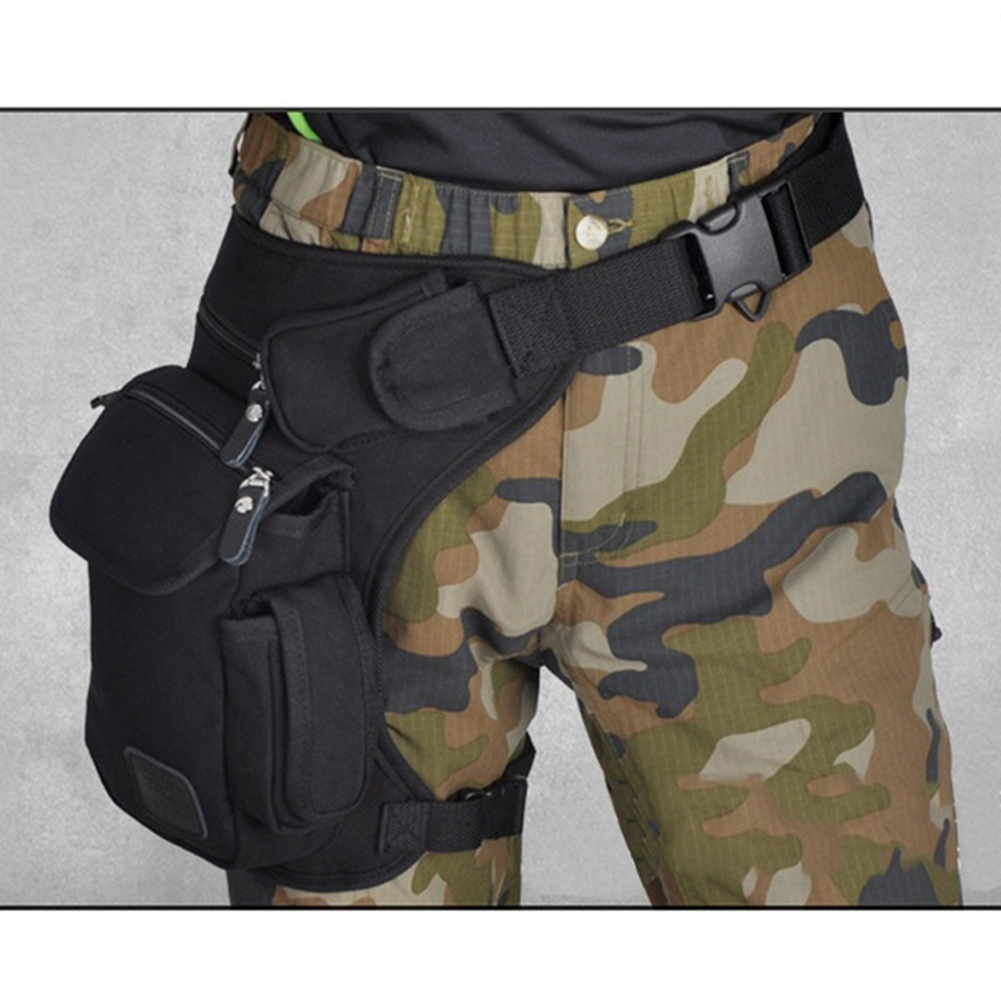 <font><b>Men</b></font> <font><b>Waist</b></font> Pack Leg Drop <font><b>Bags</b></font> Canvas Motorcycle Crossbody Messenger Shoulder Belt Bum Male Hip Purse Pouch Military Travel <font><b>Bags</b></font> image
