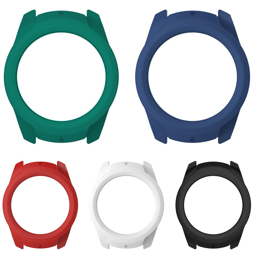Silicone Protective Cases Cover Replacement For Ticwatch Pro Smart Watch Red/White/Green/Blue/Black Silicone Watch Case