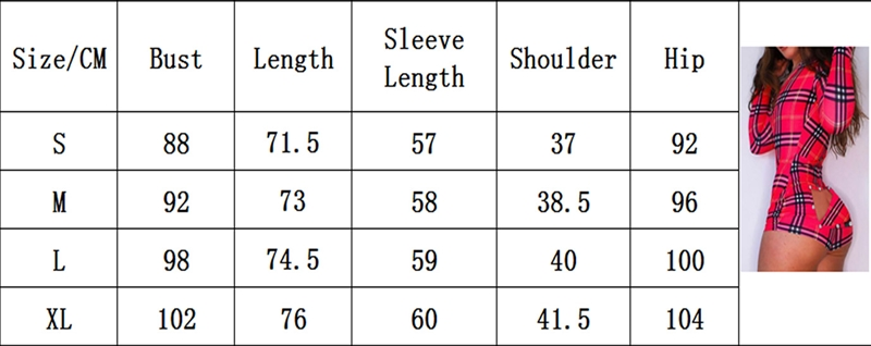 Women Printed Jumpsuits Buttoned Flap Adults Long Sleeve Casual Bodysuit Playsuit Sexy Deep V-Neck Romper