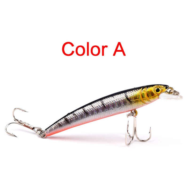 1 قطعة أسماك الصيد السحر 3D عيون العائمة الليزر Aritificial fising Wobblers Crankbait البلاستيك الطعوم Pesca إيسكا 7.5 سنتيمتر 5.6g 30