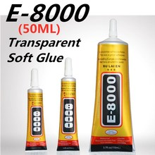 E8000 50ml Strong Liquid Glue Clothes Fabric Clear Leather Adhesive Jewelry Stationery Phone Screen Instant Earphone
