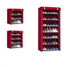 Włóknina przechowywanie stojak na buty szafka korytarzowa Organizer 4 5 6 warstwy montaż półka na buty DIY dom umeblowanie tanie tanio Sandy Rose 10 Meble do domu China Nowoczesne Meble do salonu Minimalistyczny nowoczesny Metal STAINLESS STEEL Shoes Organizer