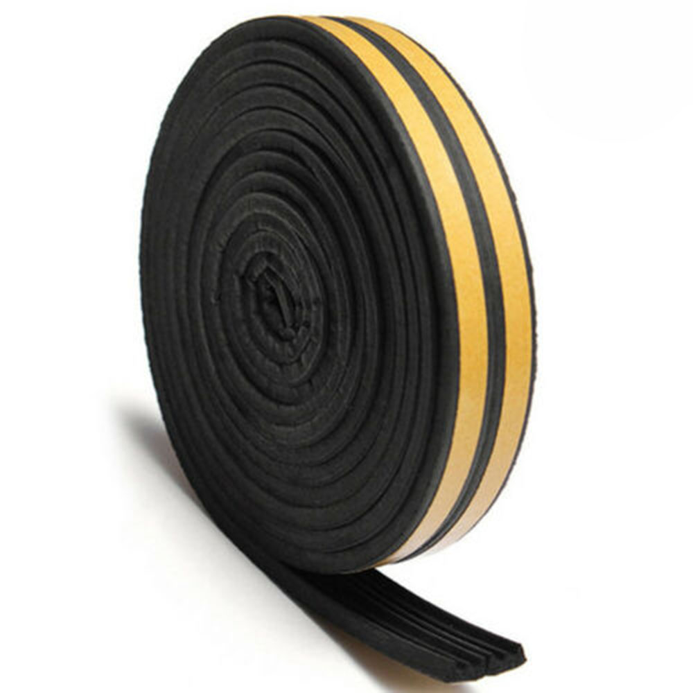 Draught Excluder Weather Seal Strip Noise Insulation Door Window Sticky Tape 10M