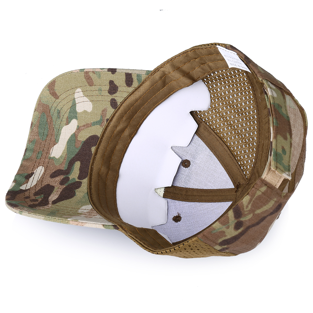 Skull Tactical Military Airsoft Cap Adjustable Breathable Sun Visor Trucker Hat Mesh Hunting Hiking Baseball Skeleton Snapback 34