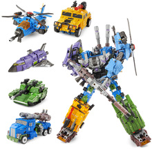 5 IN 1 Transformation Robot Car Toys Anime Devastator Aircraft Tank Model KO Toy Boys Truck Collection Kid Adult Toy