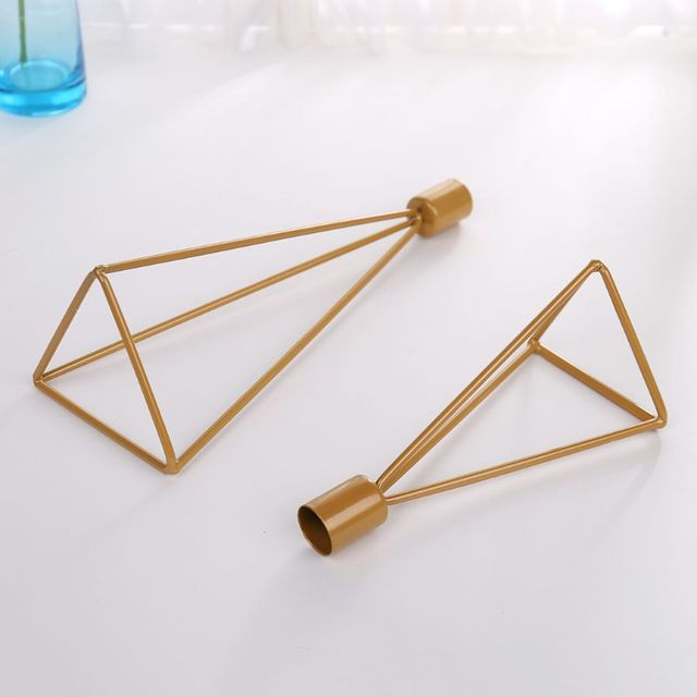 Geometric Candlestick Tealight Candle Holder Stand Wedding Party Decor 3