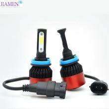 JIAMEN 8000LM/Pair H7 LED Headlight Bulbs 72W Auto Lights Car H4 H1 H3 H27 H11 HB3 HB4 H13 9004 9007 Styling Lamp