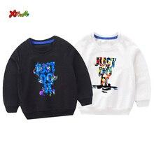 Kids Sweatshirts Pullover funny New 2019 Children Fashion toddler baby sweatshirts autumn white girl Cotton boys clothes 6 years