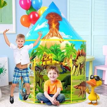 Namiot dinozaura dla dzieci Wigwam dla dzieci zabawki halowe dla dziewczynki chłopiec dom zabaw dla dzieci namiot zabawkowy dla dzieci tanie i dobre opinie SUMBABABY Poliester CN (pochodzenie) Keep Away From Fire 0-12 miesięcy 13-24 miesięcy 2-4 lat 5-7 lat 6 lat XM-001 Składany