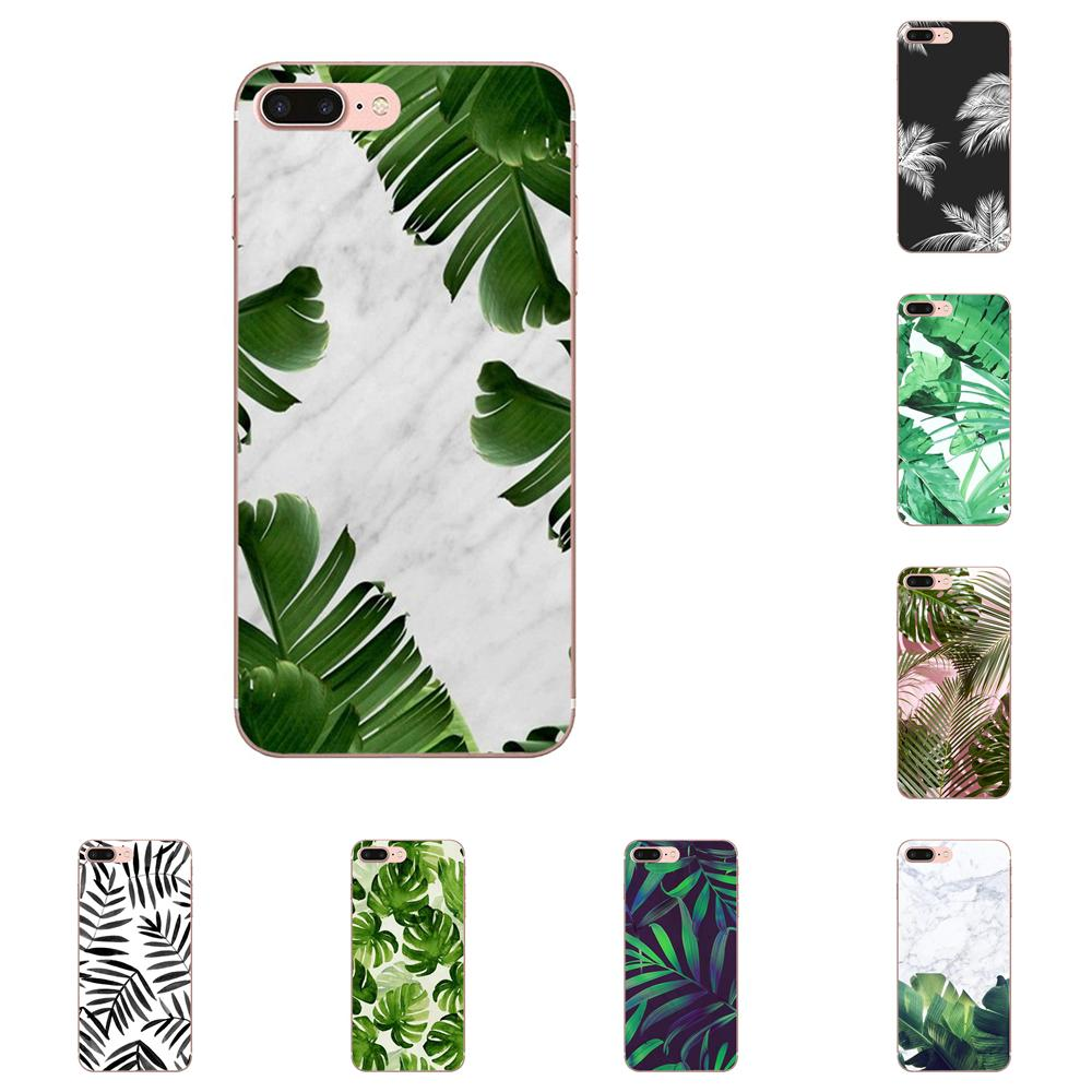 Soft Case Covers Plants Banana Tree Leaves Diy For <font><b>Samsung</b></font> Galaxy Note 5 8 9 S3 S4 S5 S6 S7 S8 S9 S10 5G mini Edge Plus Lite image