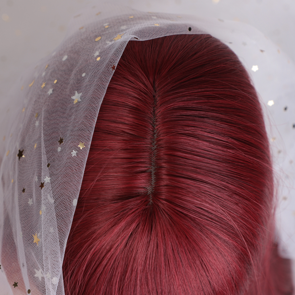 Aisi hair 30 дюймов прямой длинный парик красный с челкой три