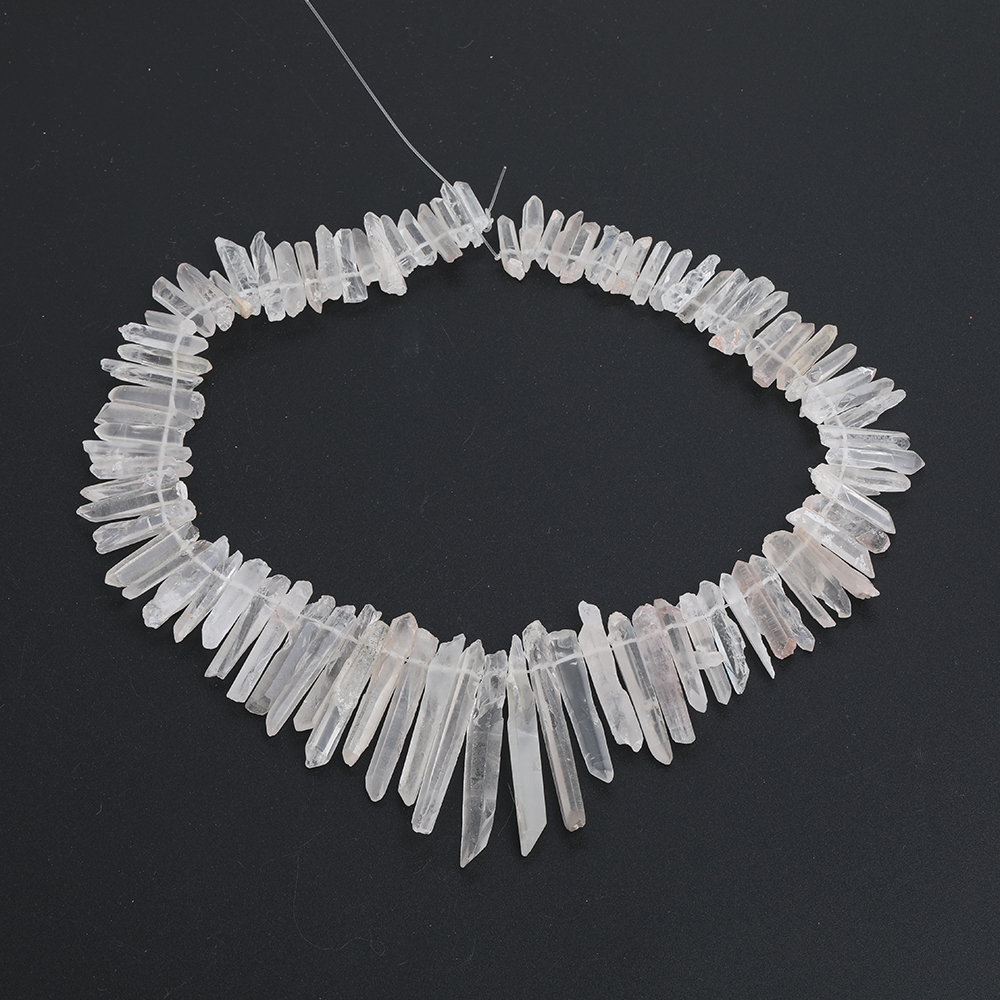 Aprox 100 pces strand natural branco cristal