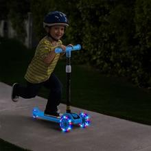 Children's Adjustable Foot Scooters LED Light Up Children Unisex Kick Scooter 3 Wheel City Roller Skateboard Gifts For Kids Toys