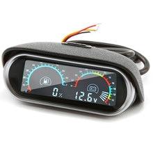 2 in 1 Horizontal 12v/24v LCD Digital Car Truck Voltmeter Voltage Gauge Universal Oil Fuel Gauge Meter Fuel Level Gauge цена и фото