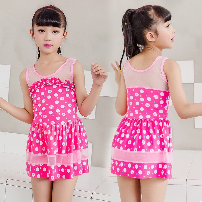 Special Offer One-piece Swimsuit For Children GIRL'S Girls Boxer One-piece Boxer Cute Printed Skirt Swimwear NT493109