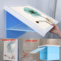 Bathroom Wall Clothes Locker Poster Picture Painting Waterproof Decorative Paintings Clothing Storage Rack Bathroom Accessories