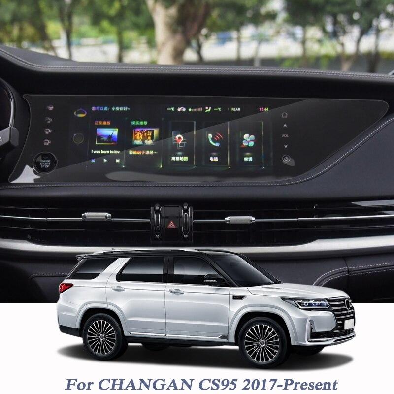 Para CHANGAN CS95 2017-presente para pantalla de navegación GPS protector de vidrio película GPS película protectora de pantalla accesorios internos