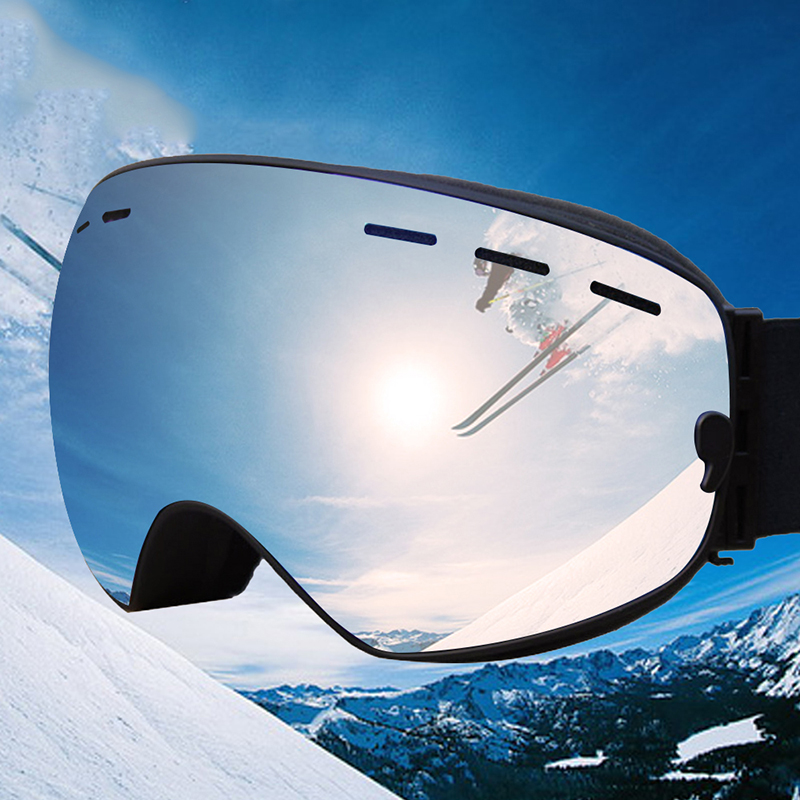Winter Snow Snowboard Adult Ski Goggles Windproof Sandproof Large Spherical Glasses Double Layer Anti-fog Ski Glasses