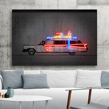 Ghostbusters Art Prints Car Neon Poster Printing Graffiti Pop Street Art Wall Picture Nordic Modern Home Decor Frameless
