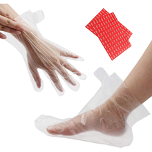 200Pcs/Pack Disposable Plastic Hand Foot Covers Transparent Shoes Cover Paraffin Bath Wax SPA Therapy Bags Liner Booties Thrifty